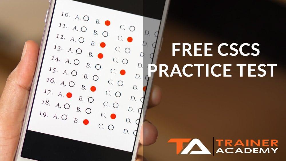 Free CSCS Practice test